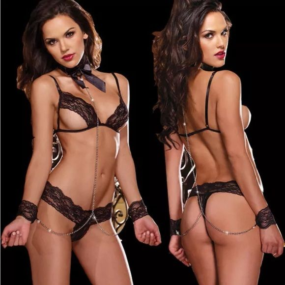 Buy 2 Get 3 free! Black lingerie set New in package. CID#208 Intimates & Sleepwear