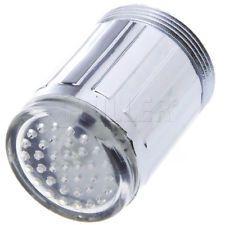 Glow LED Stream Light Water Faucet Tap Basin Sink Spout Lamp Automatic Sensor