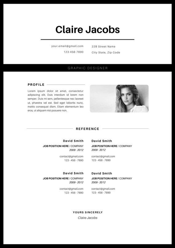 creative resume template  cv template  instant download  editable in ms word and pages   cover