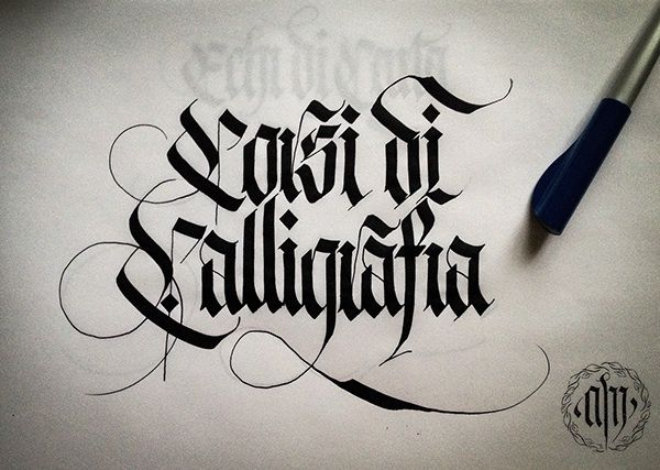 1000 Images About Calligraphy Black Letters On Pinterest