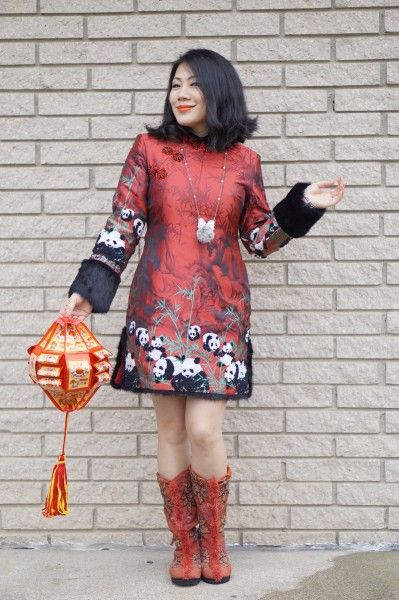 Petite fashion winter street style Happy Chinese New Year from Grace Liang of Color and Grace
