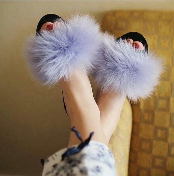 The world renowned vintage model, Idda Van Munster, received her own handmade bespoke, pair of fOOfOOs for her wedding day, in 2016. Our designs are the result of a long process of consultation between our clients so that we are now able to bring to the world exquisitely crafted women's quality slippers. If you love fur slides, you will absolutely adore our amazing woman's designer fur slipper!