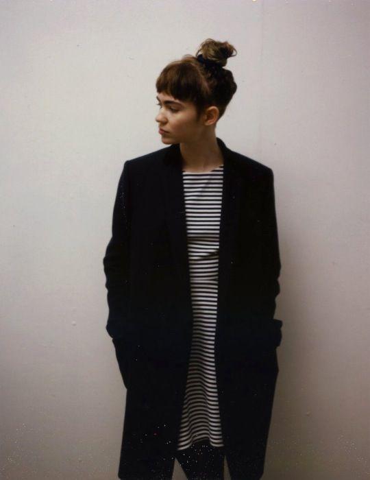 stripes long coat