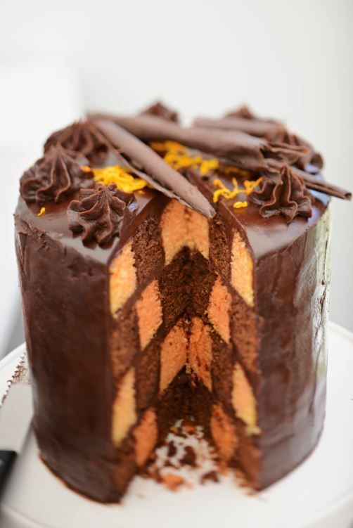 This week's Technical Challenge, The Chocolate Checkerboard Cake, perfect for afternoon tea!