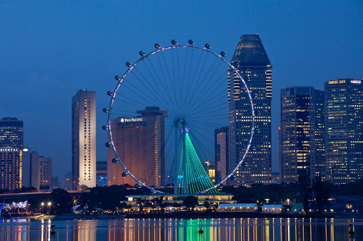 Singapore flyer taken from the Marina Barrage-2