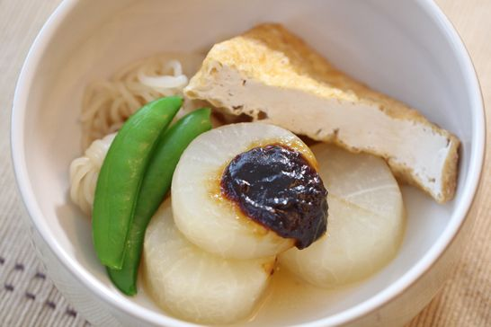 "Today's recipe is "" Shojin Ryori, Miso-Oden"".      ""Shojin Ryori"" is Japanese vegetarian cuisine. ..."