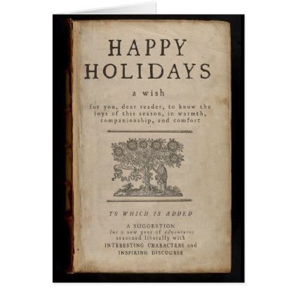 Title Page Holiday Card - vintage gifts retro ideas cyo