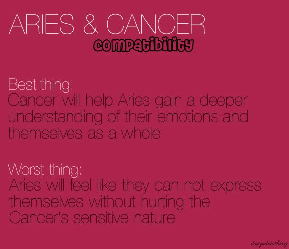 Aries & Cancer