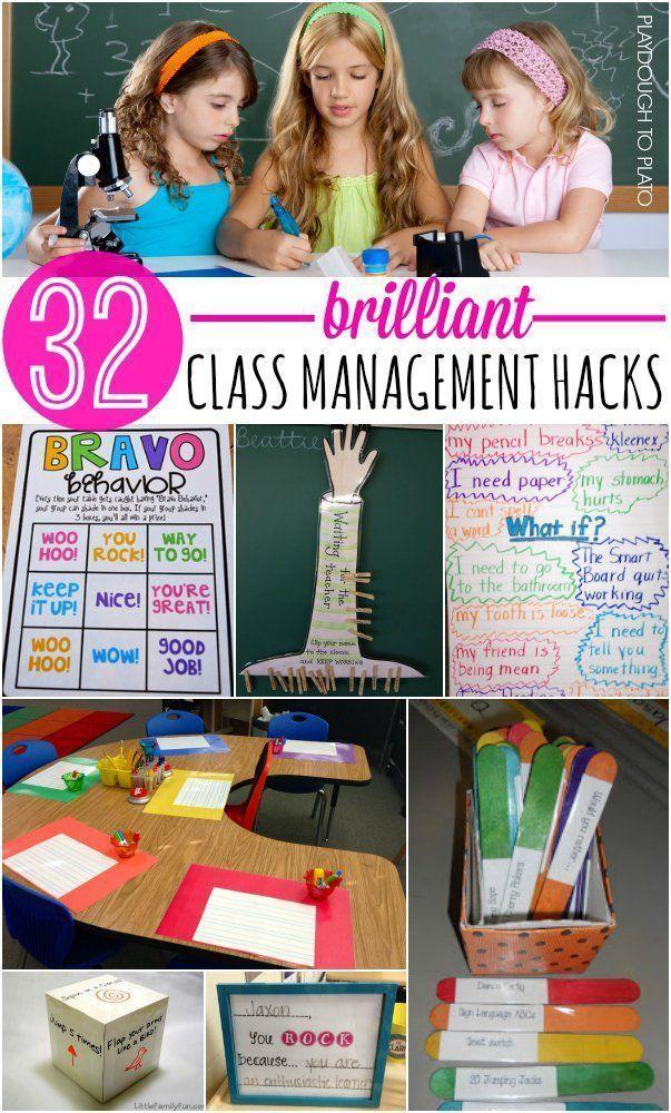 32 Must-Try Classroom Management Tips! Positive reinforcement ideas, brain breaks, class job charts... lots of helpful teaching hacks!