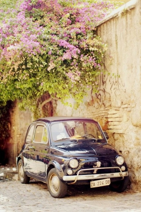 Sweet little Cinquecento - I was 8 years old <3 a little family of 4 people inside :-)