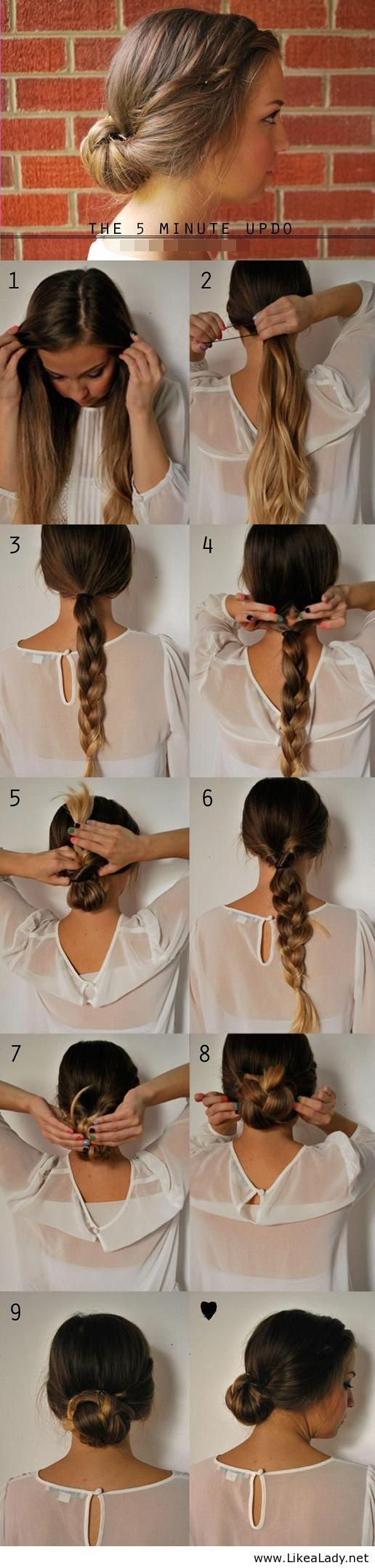 The 5 minute updo