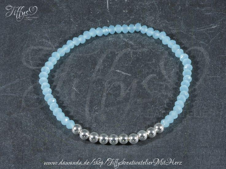 Armbänder - Armband * Perlen 925 Sterling Silber * Saphire - ein Designerstück von TiffysKreativatelier bei DaWanda