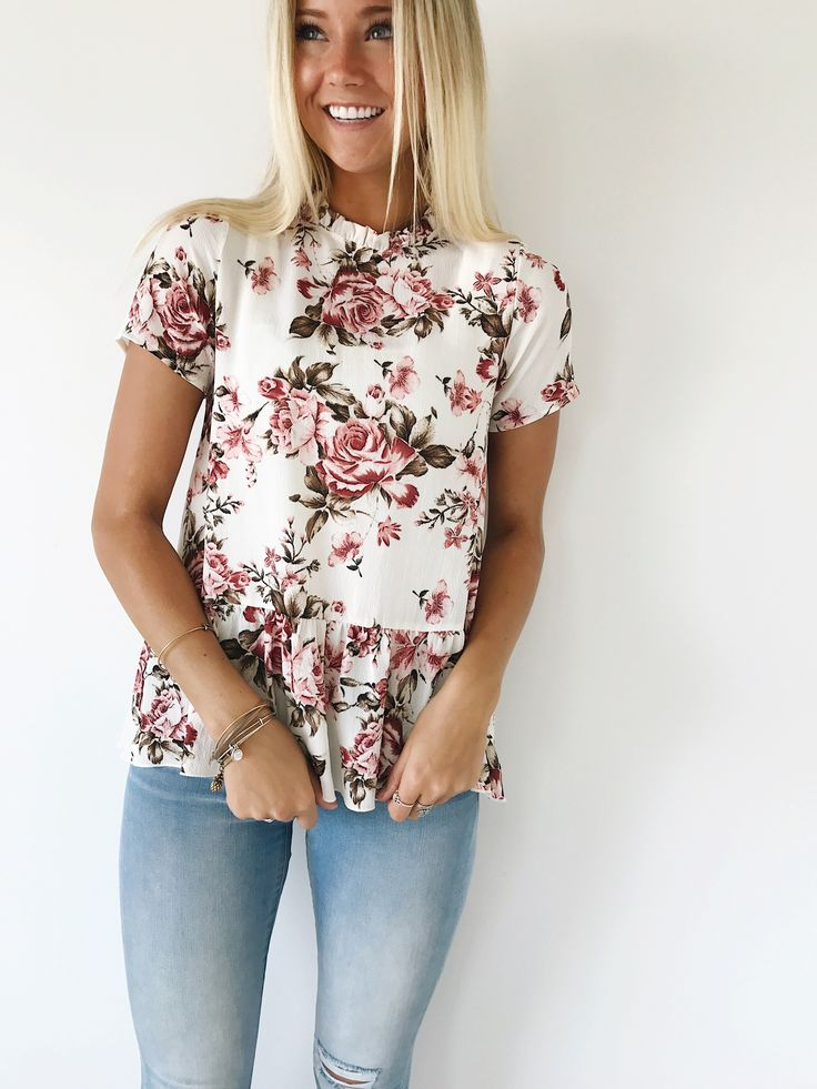 floral peplum | ROOLEE