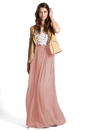 Gorgeous!: Pink Maxi, Silk Skirts, Colors Combos, Maxi Dresses, Pink Skirts, Long Skirts, Fashion Fashion, Adorable Maxi, Maxi Skirts