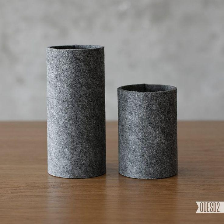 Round felt vases by ODESD2