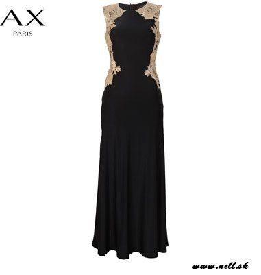 Dámske oblečenie   Dámske šaty   AX Paris Contrast Side Slinky Maxi Dámske šaty tmavomodré   www.nells.sk - Parfumy, kozmetika a oblečenie svetových značiek.