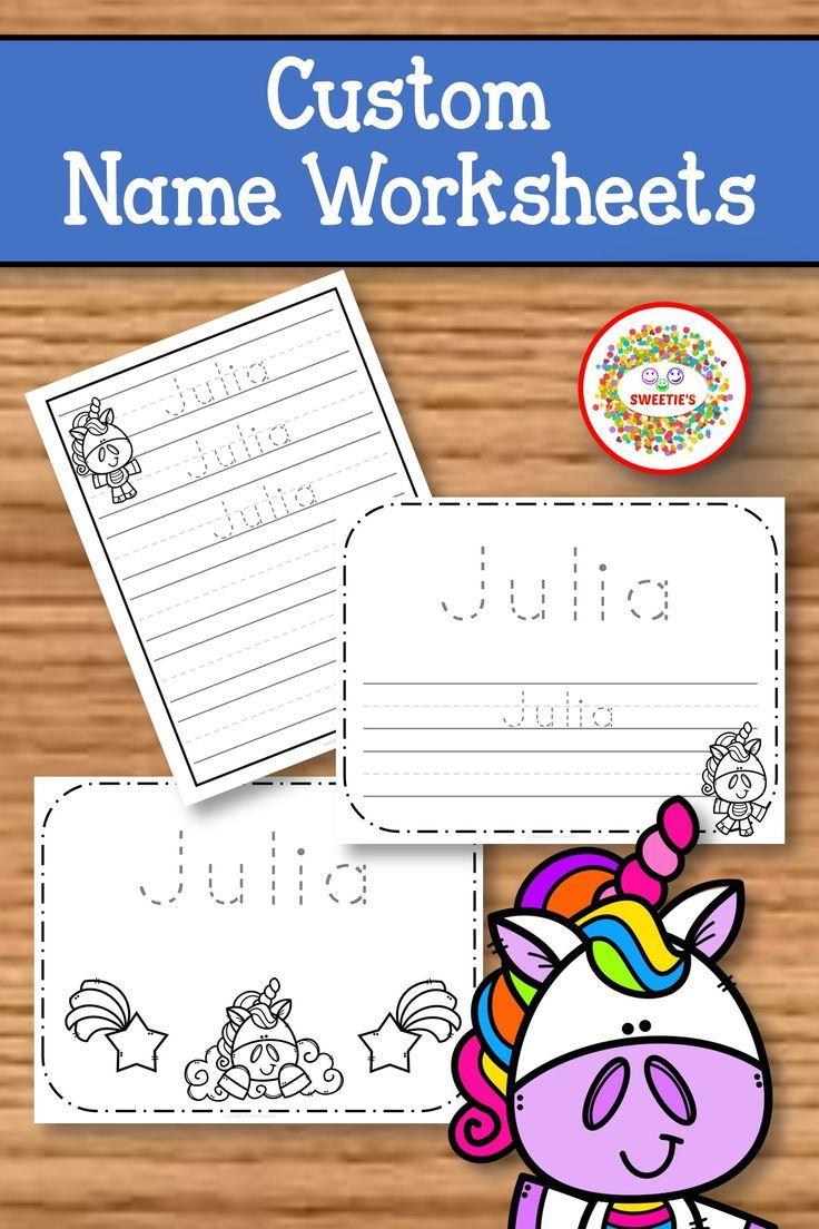 Name Tracing Handwriting Worksheet Personalized Name Etsy Handwriting Worksheets Name Tracing Writing Worksheets [ 1104 x 736 Pixel ]