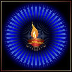 Diwali Design For Greeting Card
