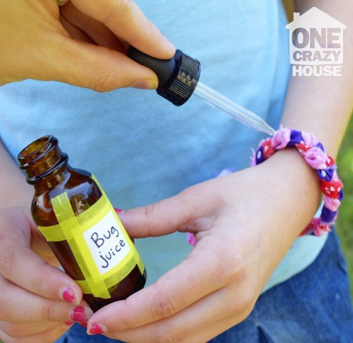 """Drip some home made """"bug juice"""" onto your little ones bracelet to keep away unwanted critters."""