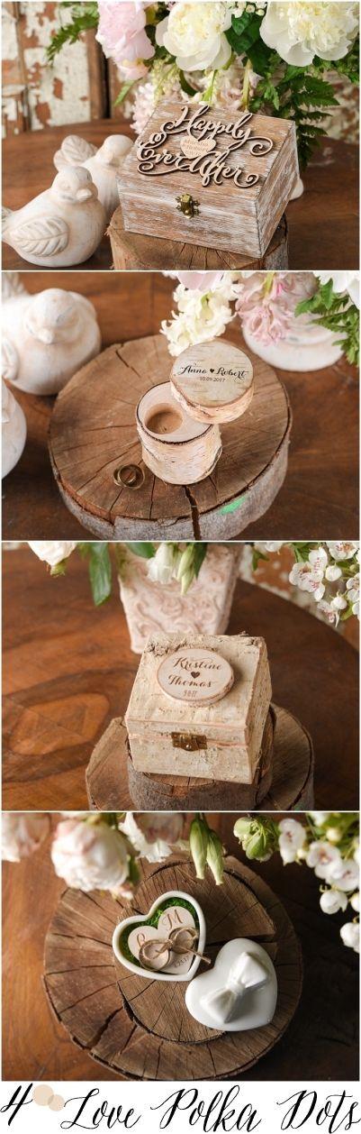 Rustic country wedding ring box #rusticwedding #countrywedding #weddingideas