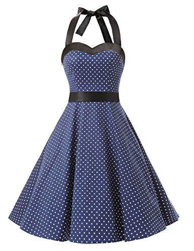 Dresstells Vintage 1950s Rockabilly Polka Dots Audrey Dre...