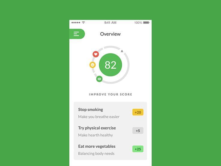 Health Score Menu Interaction by Afnizar Nur Ghifari