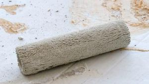 Roll on texture to hide minor drywall imperfections.