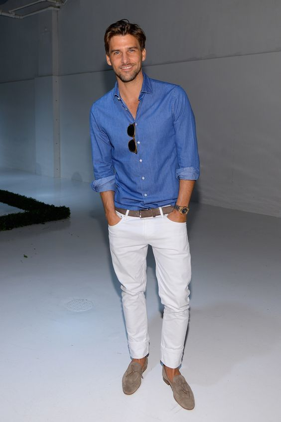 Best 25  Mens white jeans ideas on Pinterest | Classic mens style ...