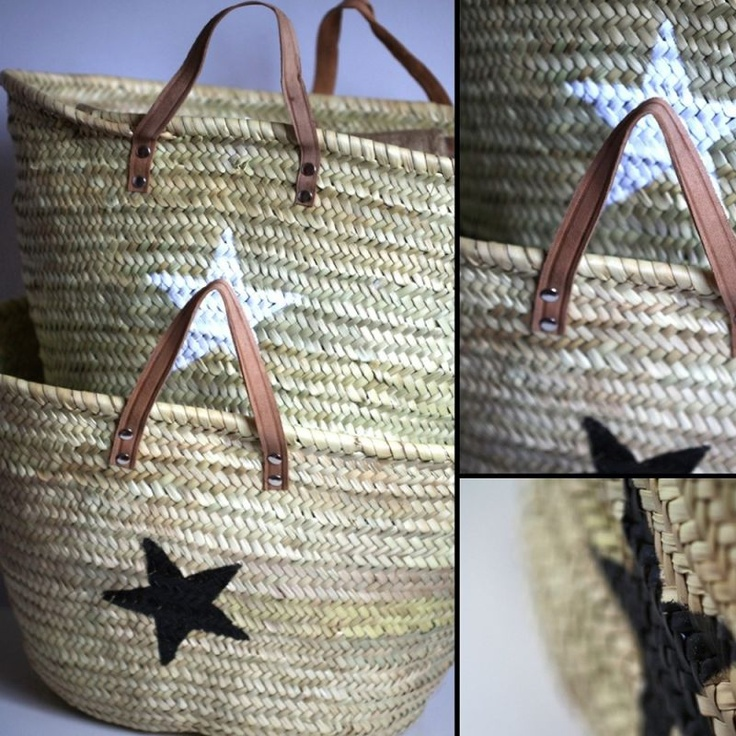 19 best sac de plage images on pinterest moses basket baskets and straw bag. Black Bedroom Furniture Sets. Home Design Ideas
