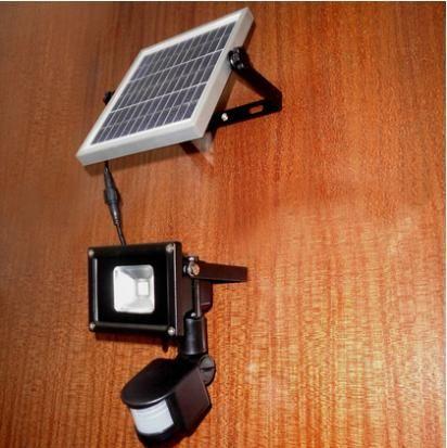 10W Warm White Outdoor Solar LED Lights Garden lamparas 60 LEDs with PIR Motion Sensor Solares Floodlights Spotlights CE&ROHS
