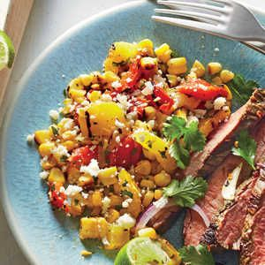 Get the most out of your grill space by adding a little char to every element of this quick, fresh corn salad. Add all the vegetables at ...
