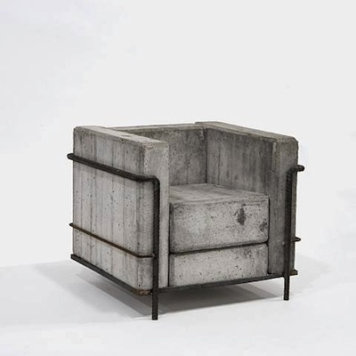 Via AMANDA RODRIGUEZ: Concrete Chairs, Le Corbusier, Outdoor Furniture, Stefan Zwicki, Corbusier Chairs, Interiors Design, Cement, Armchairs, Furniture Design