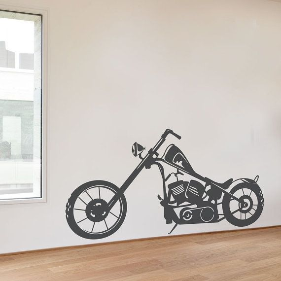 Bobber Motorcycle - Vinyl Wall Decal, Motorcycle Sticker, Motorcycle Wall Art, Man Cave Wall Art, Motorcycle Gifts, Motorcycle Decor
