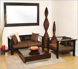 Modern Design Living Room on Wooden Sofa Designs Modern Sofa Set ...