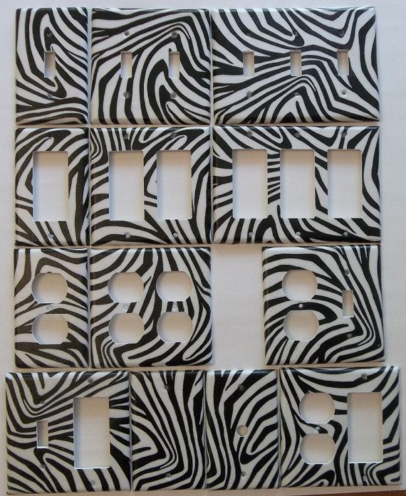 Zebra Stripes Wall Decor : Zebra stripe print animal home decoration by