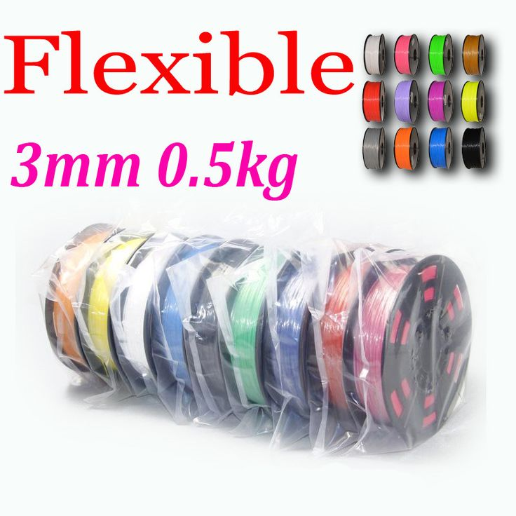 Find More 3D Printing Materials Information about Free shipping 3D Printer Filament Flexible 3mm 0.5KG Plastic Rubber Consumables Material Printing Supplies,High Quality printer printing black pages,China printer print head Suppliers, Cheap printer printing pink from E-Life Plus+ on Aliexpress.com