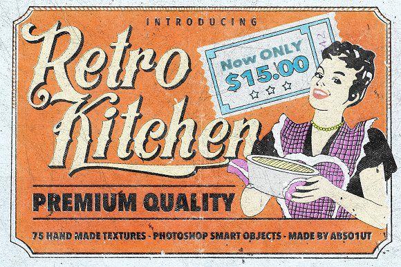 Retro Kitchen by Ivan Rosenberg on @creativemarket