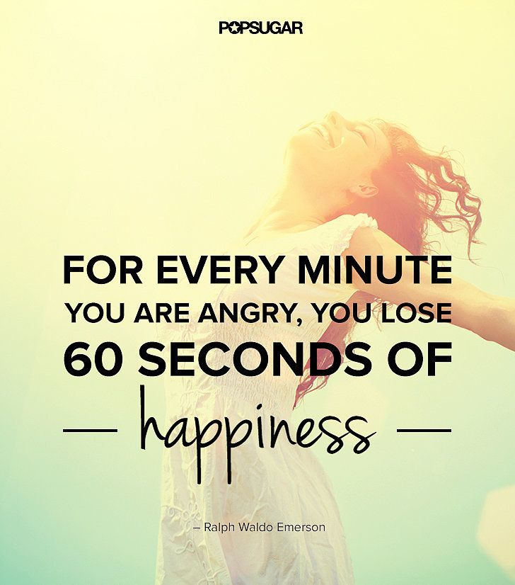 "Words to Remember ... ""For every minute you are angry, you lose 60 seconds of happiness."" Lesson to learn: The time and energy you spend on being angry you can spend on something that will better you, like happiness. Let go of your anger and grudges. #Quotes #Words #Sayings #Happiness #Life #Inspiration:"