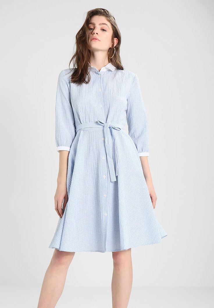 mint&berry Sukienka koszulowa - white/blue - Zalando.pl