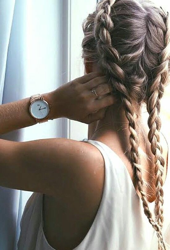 Currently obsessed with double dutch braids! Use a cream wax for soft texture and to keep hair looking smooth in braids