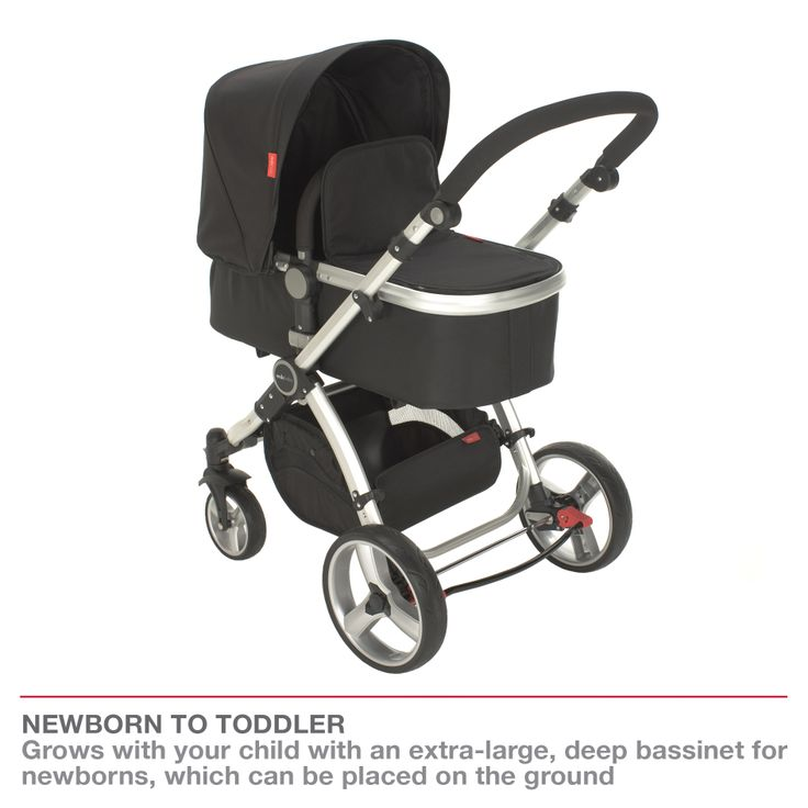 Redsbaby Bounce - The Ultimate All-In-One Stroller/ Pram www.redsbaby.com.au Grows with your child with an extra-large, deep bassinet for newborns, which can be placed on the ground, and a comfortable spacious seat for toddlers (up to 17kg)