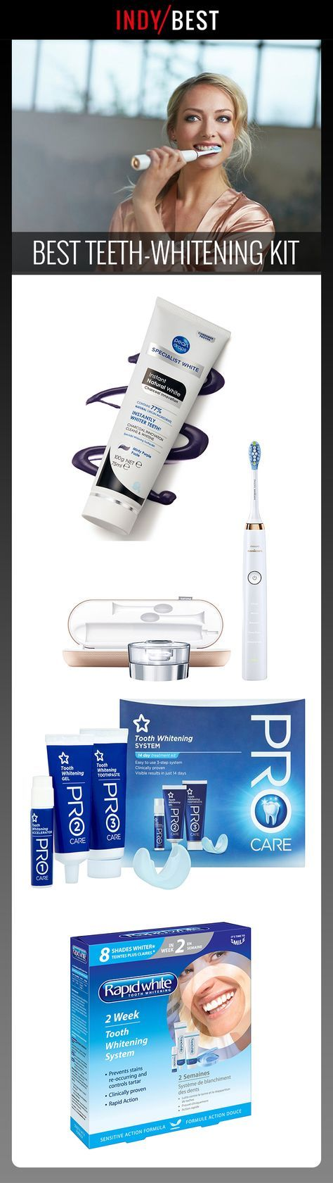 Keep your teeth looking pearly white with the help of one of these DIY kits. We've tested them out to bring you the best, find them here: http://ind.pn/2nZz1JH