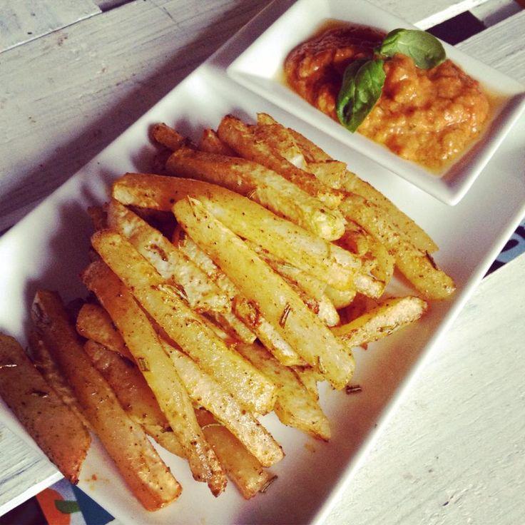 Kohlrabi-Fritten mit Gemüseketchup