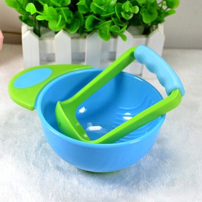 New Baby Food Mills Safety Food Processor Kid Learn Dishes Grinding Bowl Handmade Grinding Food Baby Food Mills Free Shipping