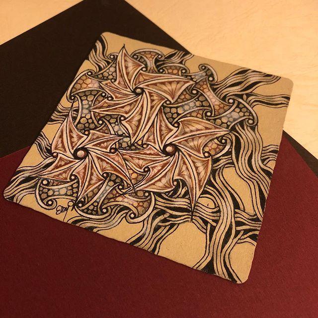 #zentangle #zenart #tangle #pattern #patternart #penart #illustration #mindfulness #ゼンタングル #パターンアート #ペン画 #イラスト #マインドフルネス