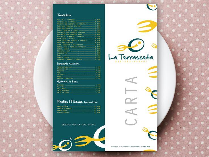 Dise o gr fico de cartas de men para restaurantes for Disenos de menus para cafeterias