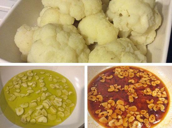 coliflor al ajoarriero