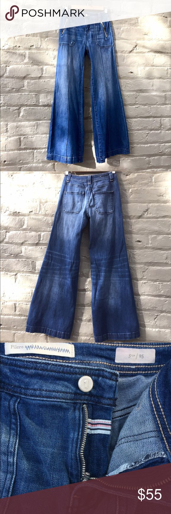 Anthropologie Pilcro Jeans Pilcro and the letterman Flare Jeans. High Rise, Med Wash, size 25. Anthropologie Jeans