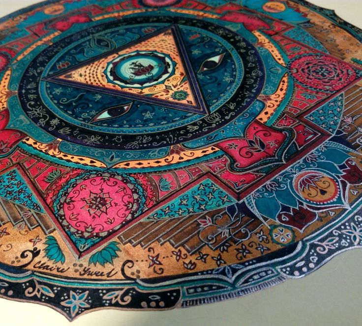 My sweet mandala Kali yantra Lyra aqua brush duo, Marvy for drawing 0.1