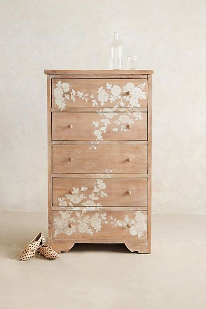 Pearl Inlay Narrow Dresser #anthropologie. This is just like the IKEA Tarva! http://www.ikea.com/us/en/catalog/products/10221421/
